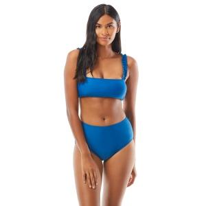 Kate Spade Mini Ruffle Square Neck Bikini Top - Cabana