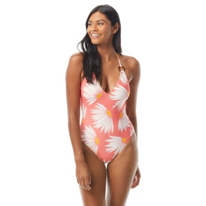 Kate Spade Plunging V-Neck One Piece Swimsuit - Falling Flower