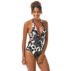 Kate Spade Knotted Halter One Piece Swimsuit - Monstera Grove