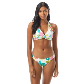 Kate Spade Knotted Halter Bikini Top - Tropical Floral
