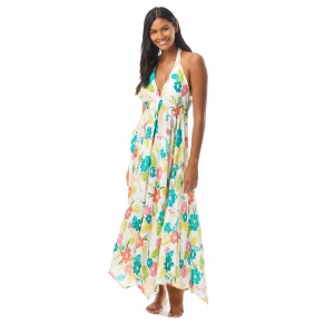 Kate Spade Halter Maxi Dress Cover Up - Tropical Floral