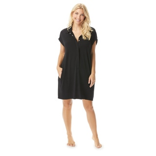 Contours by Coco Reef Citrine Midi Button Cover Up - Heritage