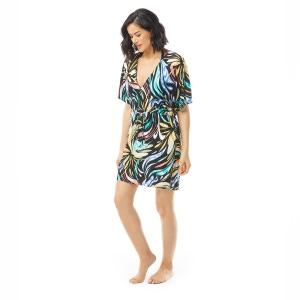 Coco Reef Luxe Cover Up Dress - Retro Swirl