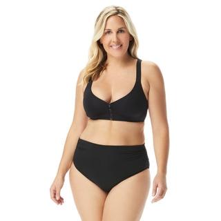 Coco Reef Plus Size Genus X Bra Sized Racerback Bikini Top - Classic Solids