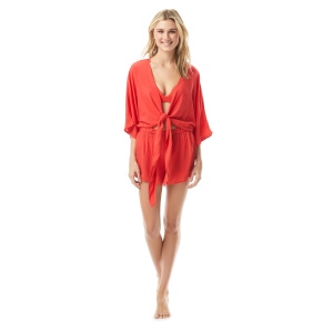Vince Camuto Convertible Tie Cover Up Romper - Sanremo Shades