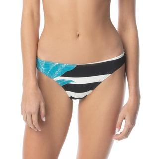 Vince Camuto Classic Bikini Bottom - Palm Shadow Stripe