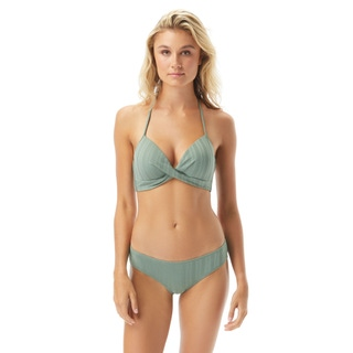Vince Camuto Molded Cup Wrap Front Bikini Top - Ripple Effect