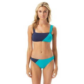 Vince Camuto Colorblock Square Neck Bikini Top - Sun Block