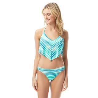 Vince Camuto Scarf Bikini Top - Mediterranean Sea Stripe