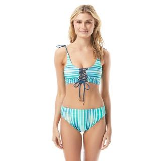 Vince Camuto Reversible Convertible Bikini Top - Mediterranean Sea Stripe