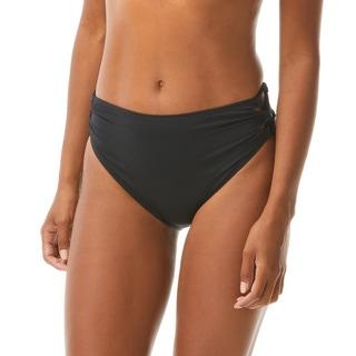 Vince Camuto Side Lace High Leg Bikini Bottom - Solids